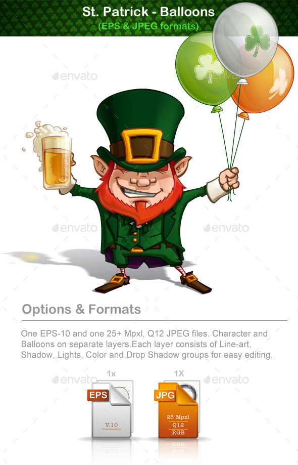 GraphicRiver St Patrick Balloons 10903997