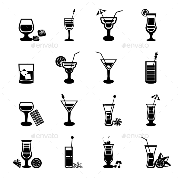 GraphicRiver Cocktail Set 10904485