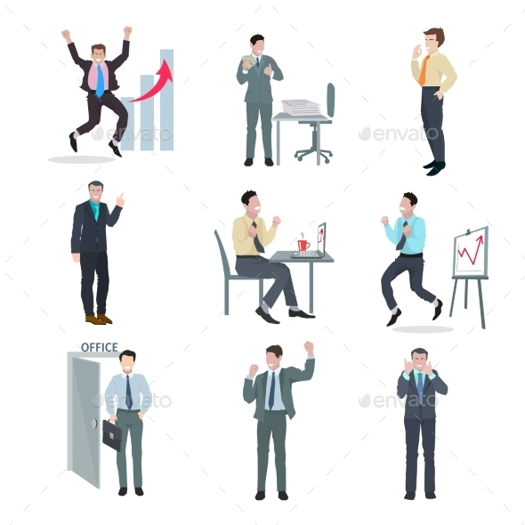 GraphicRiver Successful Businessman Set 10904544