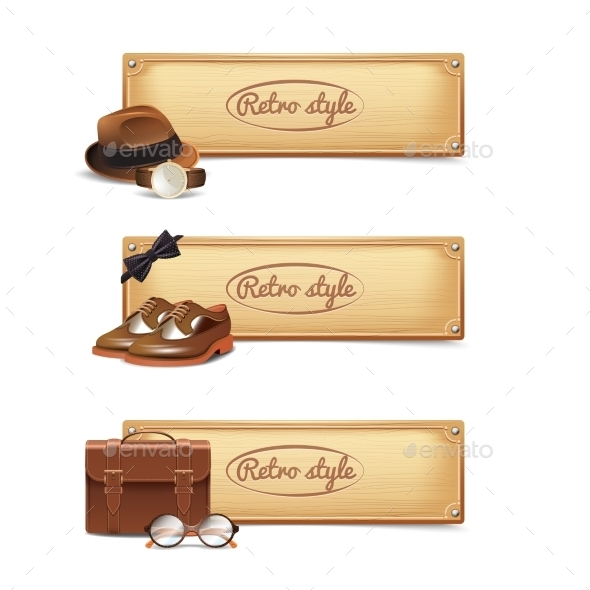 GraphicRiver Gentleman Banner Set 10904641