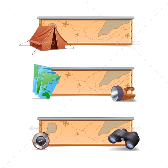 GraphicRiver Hiking Banners Horizontal 10904643