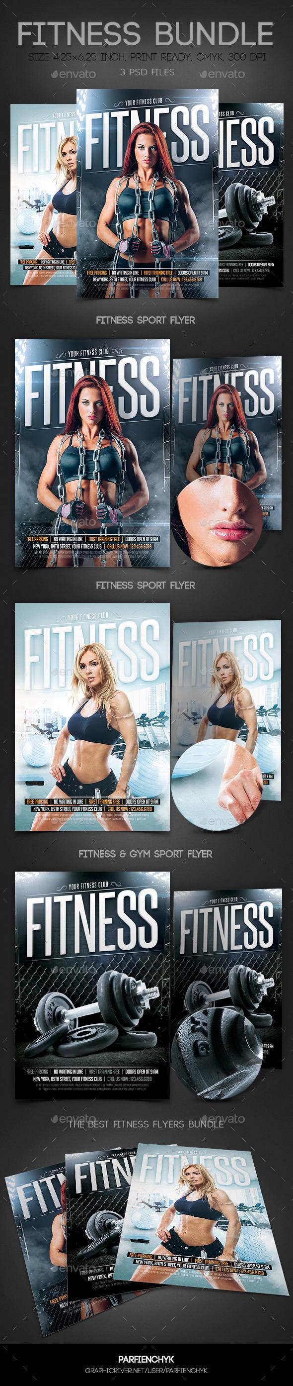 Fitness & Gym Sport Flyers Bundle