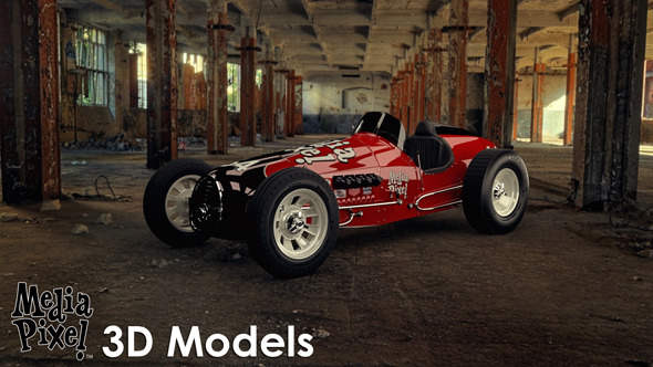 Vintage Sprint Car 3D Model by Media Pixel™ - 3DOcean Item for Sale
