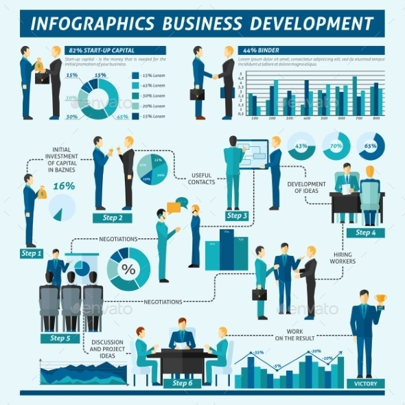 GraphicRiver Businessmen Infographics Set 10904673