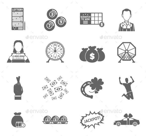 GraphicRiver Lottery Icon Set 10904684
