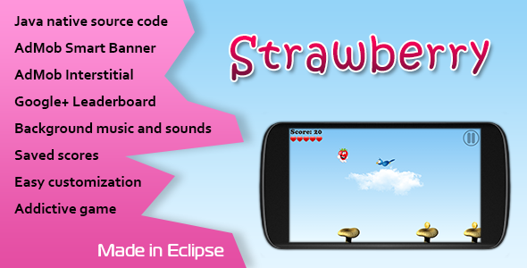 CodeCanyon Strawberry Game with AdMob and Leaderboard 10904727
