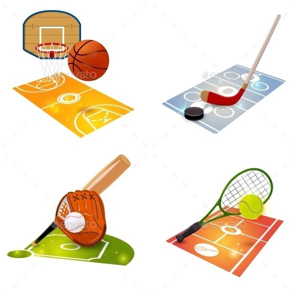 GraphicRiver Sport Equipment Concept Set 10904741
