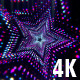 VJ Neon Star Tunnel - Colorful Glowing Light Flow - VideoHive Item for Sale