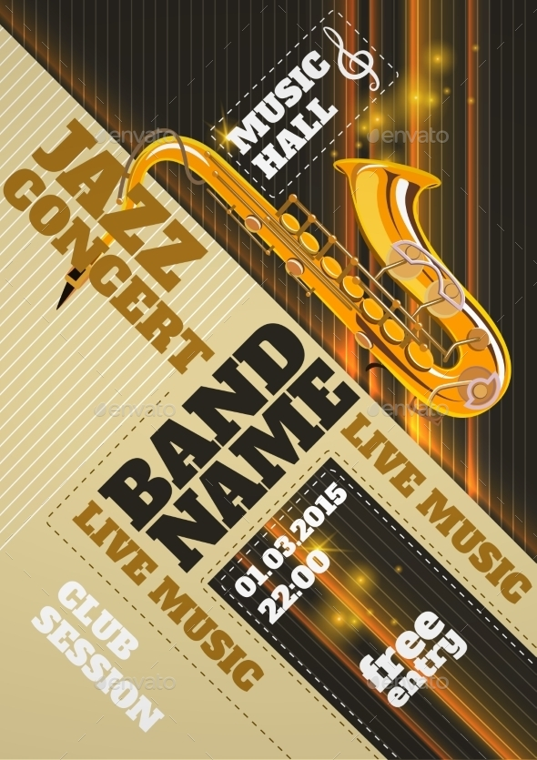 GraphicRiver Jazz Concert Poster 10904745