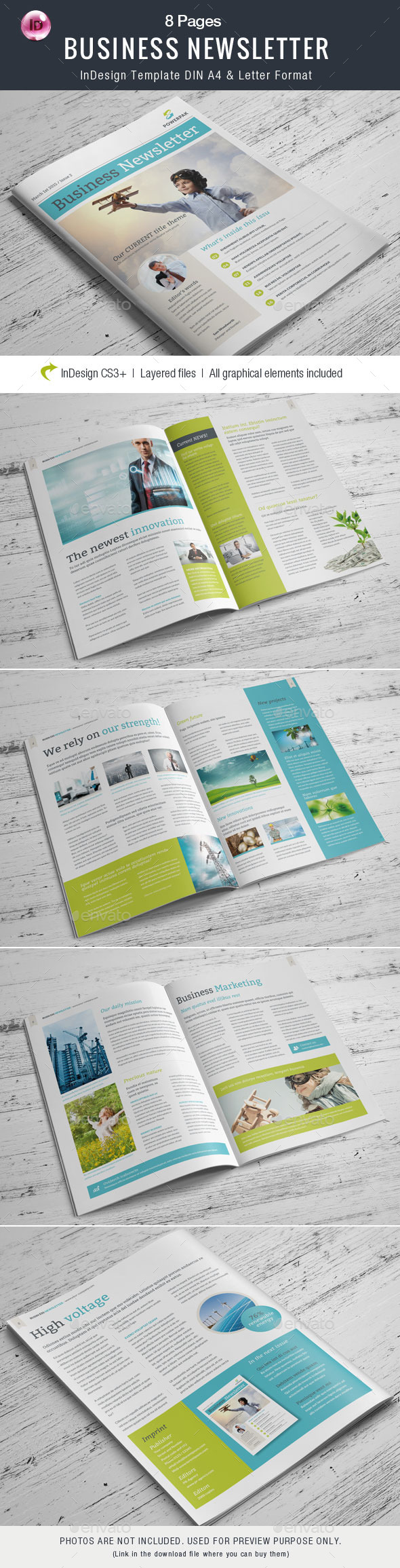 GraphicRiver Business Newsletter 8 pages 10904768