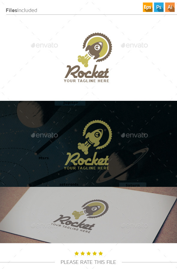 GraphicRiver Rocket Logo 10904783