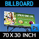 Flower Shop Billboard Template - GraphicRiver Item for Sale