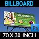 Flower Shop Billboard Template - GraphicRiver Item for Sale