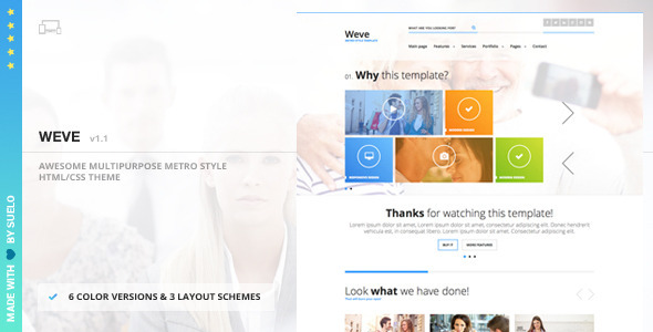 Weve - Responsive Metro Style HTML/CSS Template - Corporate Site Templates