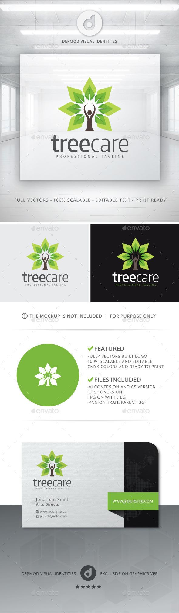GraphicRiver Tree Care Logo 10905035