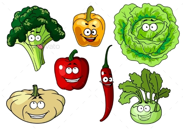 GraphicRiver Cartoon Vegetables 10905242