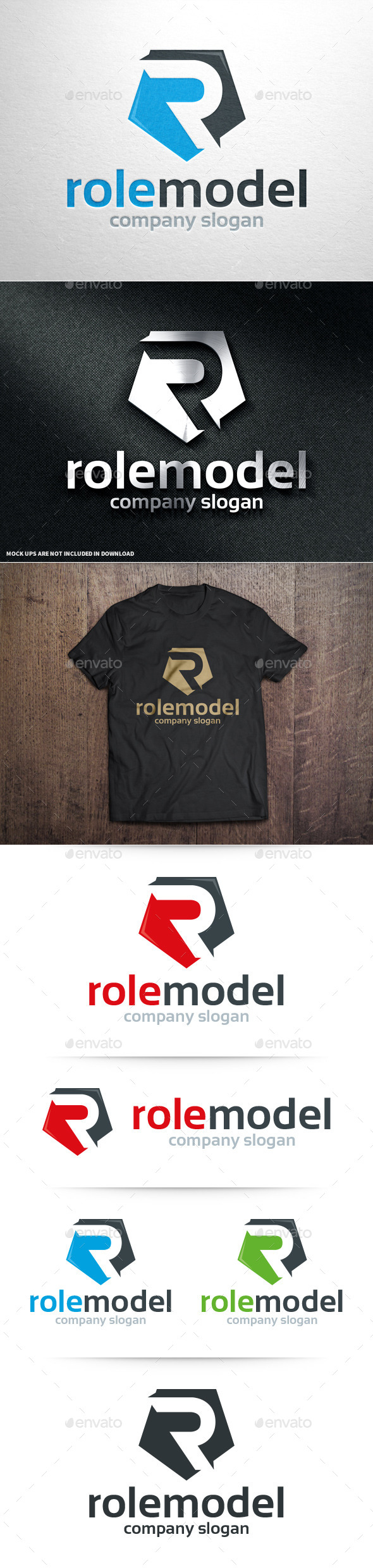 GraphicRiver Role Model Letter R Logo 10905249