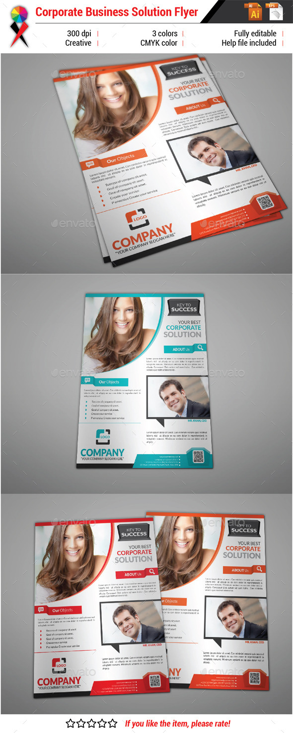 GraphicRiver Business Solution Flyer 10818019