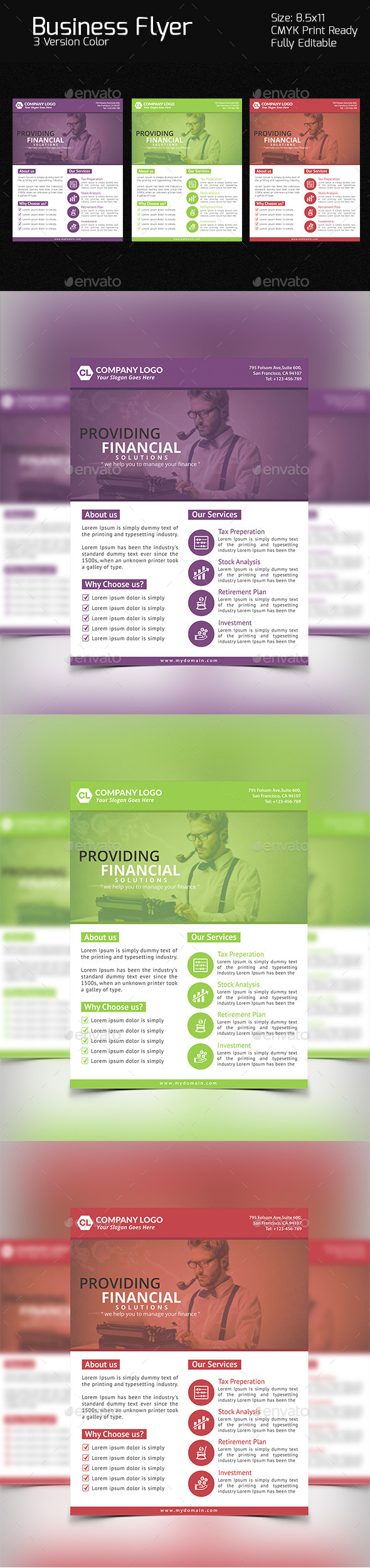 GraphicRiver Finance Business Flyer 10905886