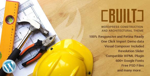 BUILT | Construction Business Wordpress Theme