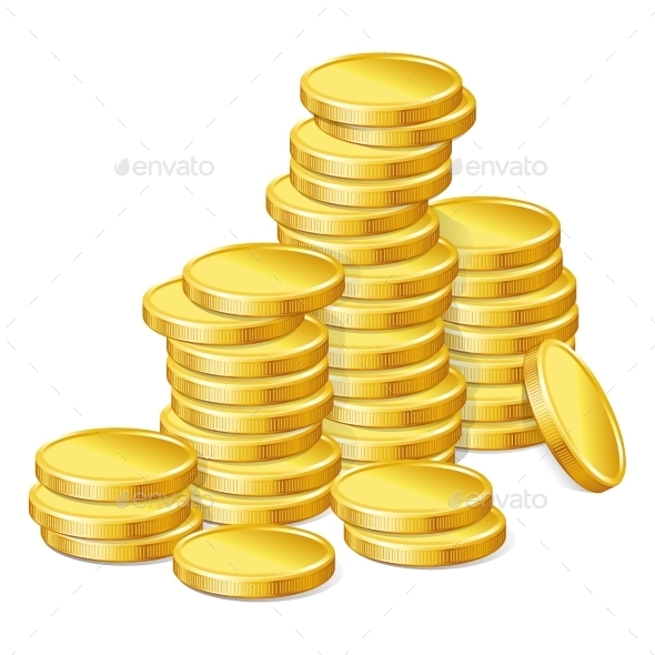 GraphicRiver Gold Coins Background 10905926