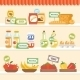 Food Collection On Shelf - GraphicRiver Item for Sale
