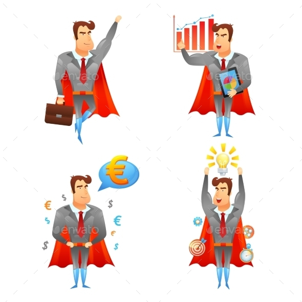 GraphicRiver Superhero Businessmen 10906070