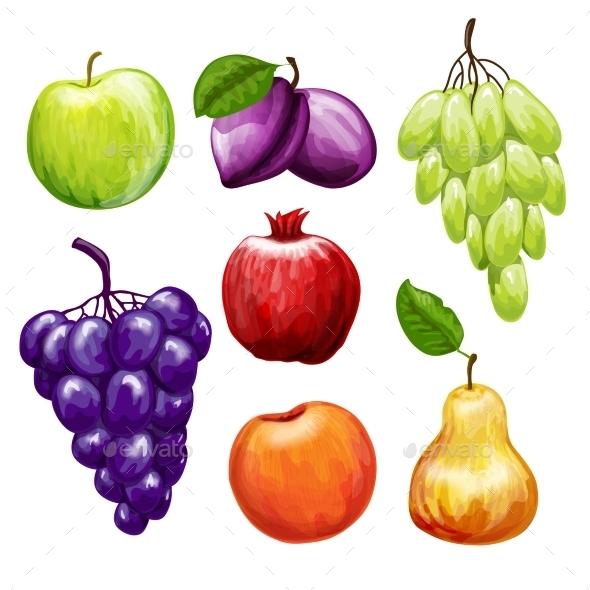 GraphicRiver Fruits Icons Set 10906109