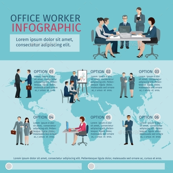 GraphicRiver Office Worker Infographics 10906114