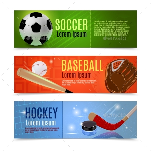 GraphicRiver Sport Banner Set 10906220
