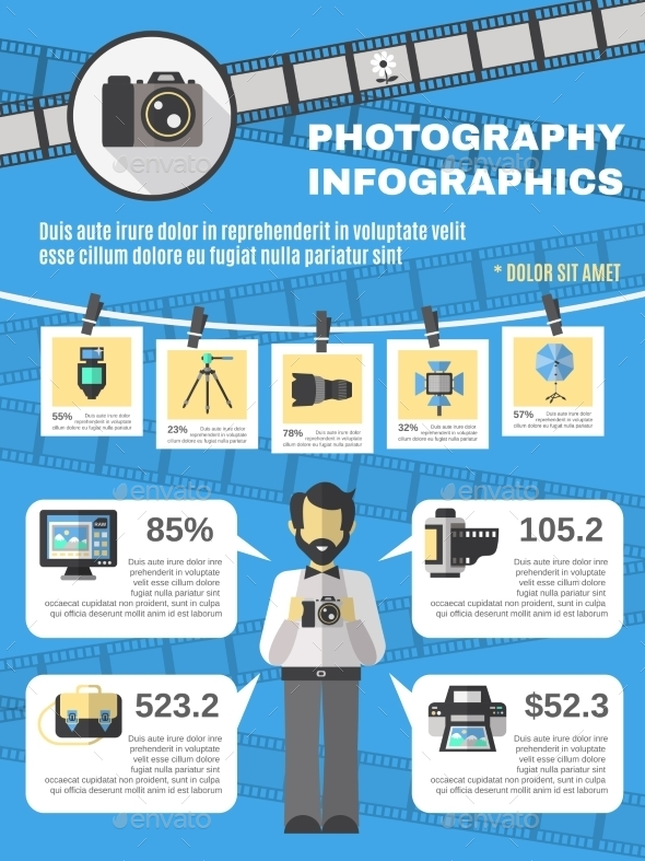 GraphicRiver Photography Infographics Set 10906229