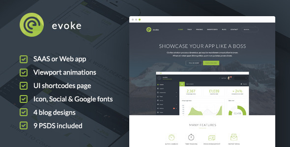 ThemeForest Evoke HTML Template 10906281