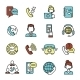Call Center Icons Set - GraphicRiver Item for Sale
