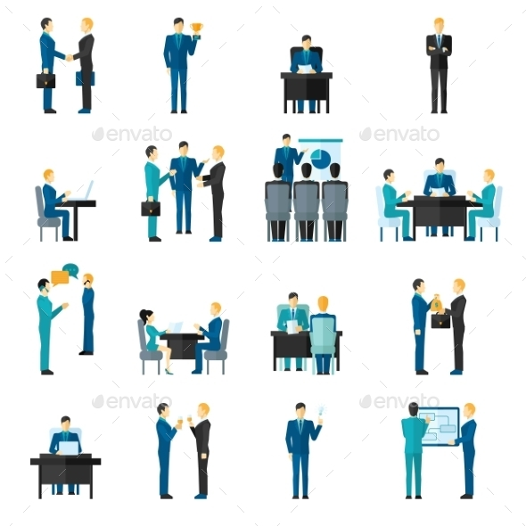 GraphicRiver Business Men Set 10906350