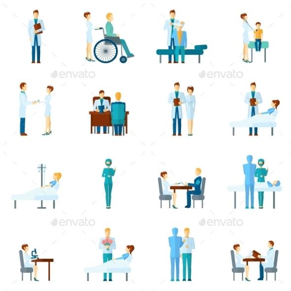 GraphicRiver Doctor And Nurses Set 10906359