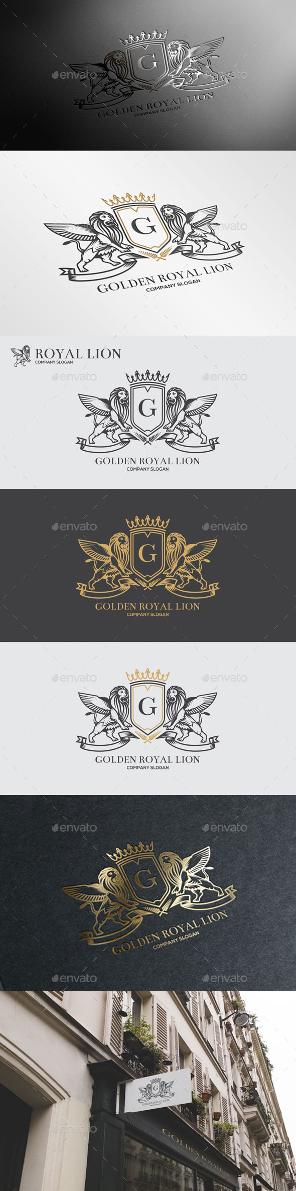 GraphicRiver Golden Royal Lion Vol.4 10906428
