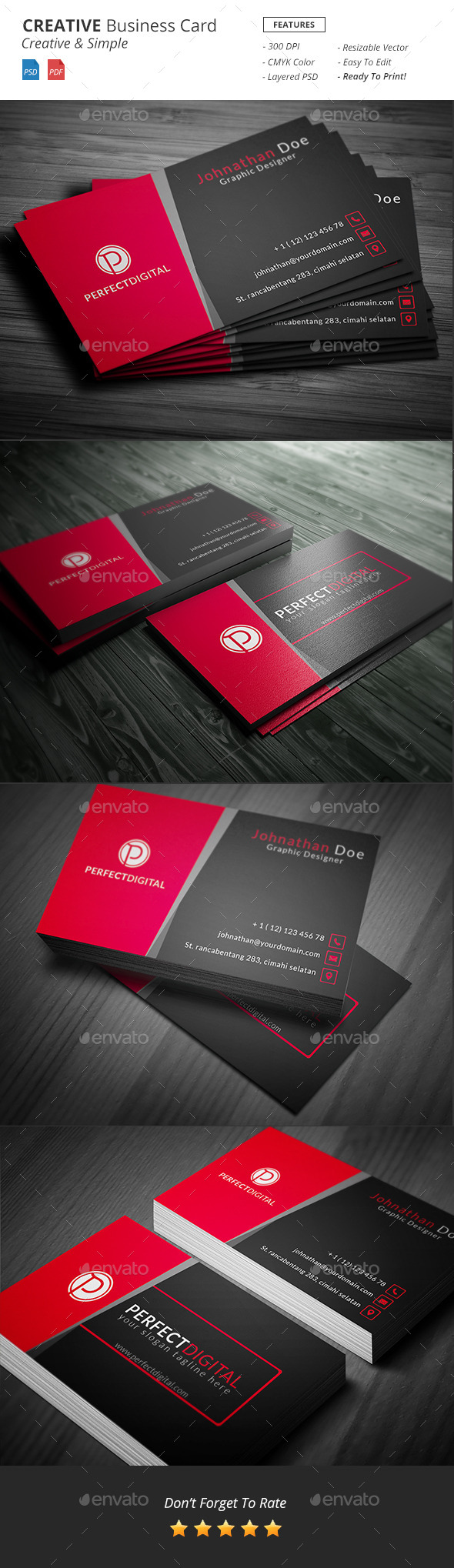 GraphicRiver Creative Business Card Template 10906436