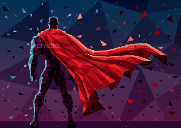 GraphicRiver Low Poly Superhero 10906554