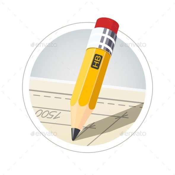 GraphicRiver Pencil with Eraser For Drawing 10906638