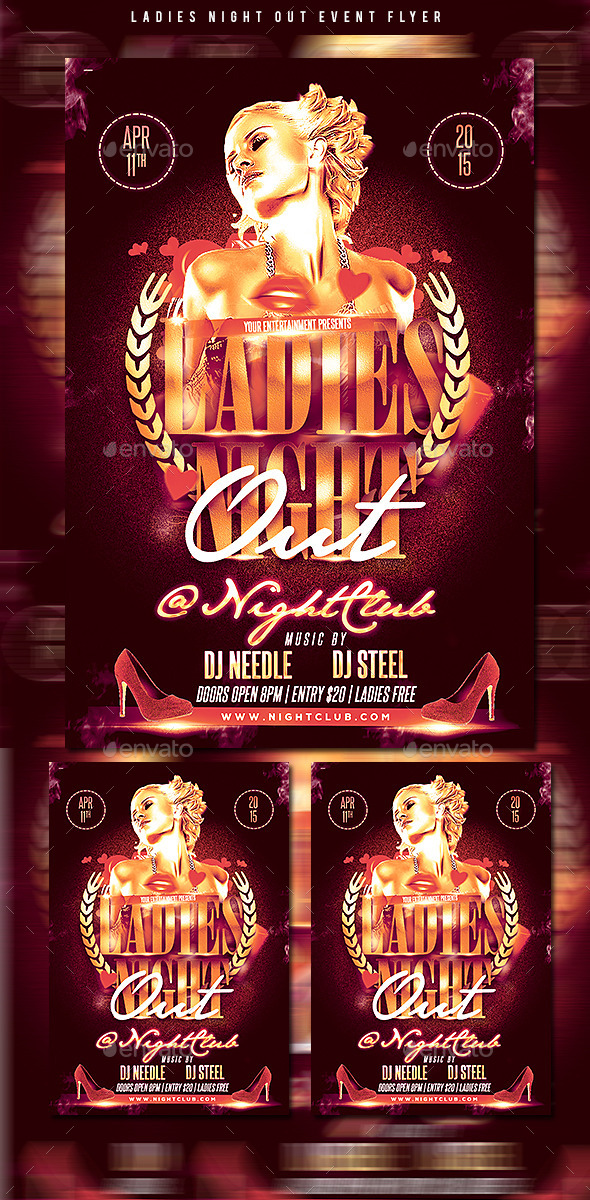 GraphicRiver Ladies Night Flyer 10906639