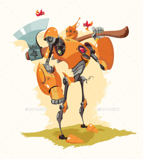 GraphicRiver Tin Woodman Robot 10906698