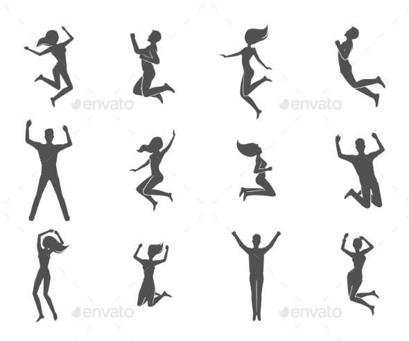 GraphicRiver Jumping People Set 10906708