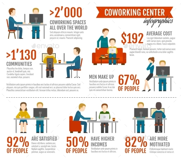 GraphicRiver Coworking Inforgaphics Set 10906718