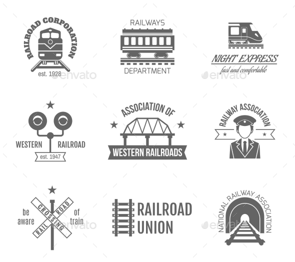 GraphicRiver Railway Label Set 10906726