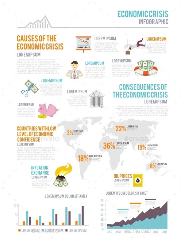 GraphicRiver Economic Crisis Infographics 10906731