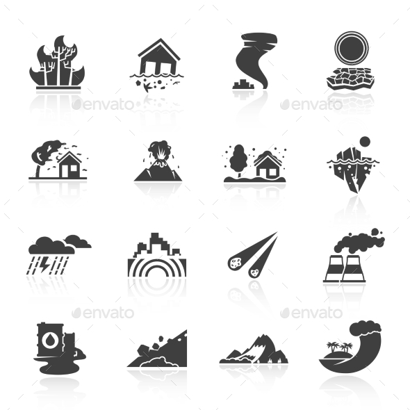 GraphicRiver Natural Disaster Icons 10906732