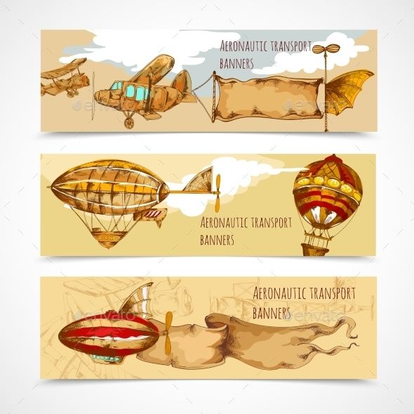 GraphicRiver Aeronautic Transport Banners 10906739