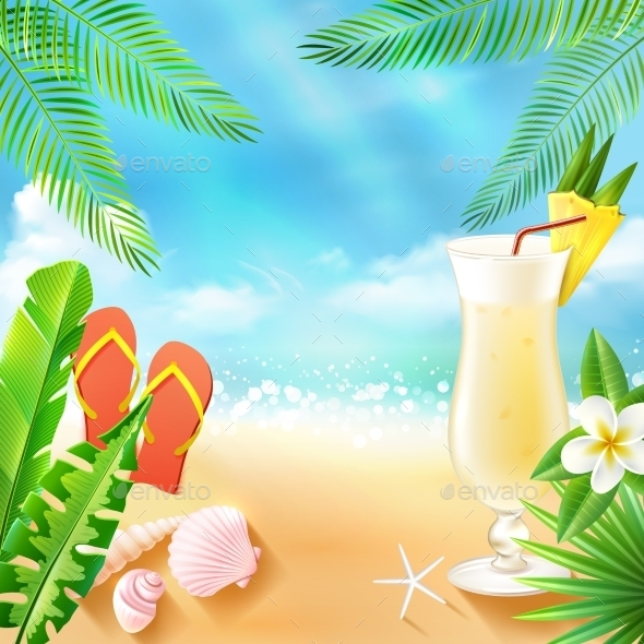 GraphicRiver Tropical Sea Background 10906753