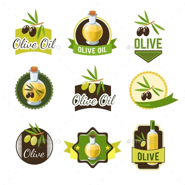 GraphicRiver Olive Oil Badges 10906763