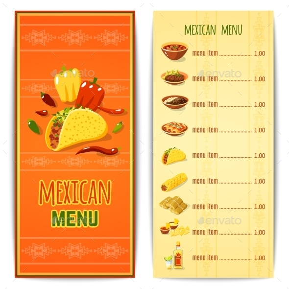 mexico brochure template - taco sfood flyer templates free download